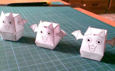 小蝙蝠纸模型