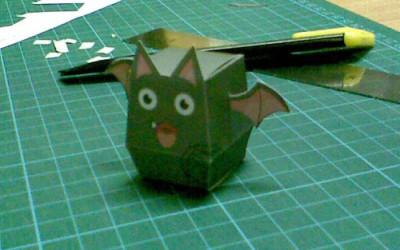 你完成你的纸盒小蝙蝠?